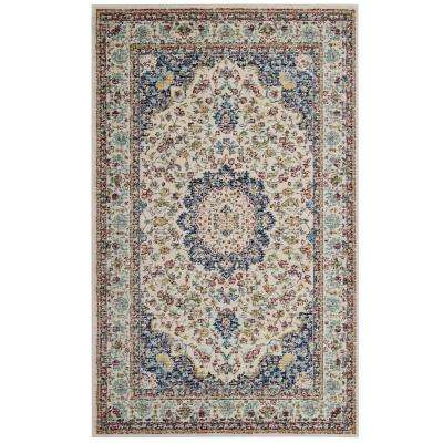 Meryam Distressed Persian Medallion 5 ft. x 8 ft. Area Rug in Multicolored