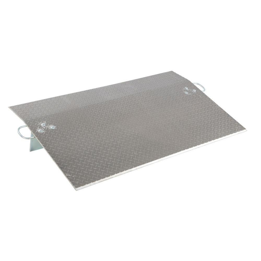 Vestil 4,100 lb. 60 in. x 36 in. x 0.38 in. Aluminum Economy Dockplate
