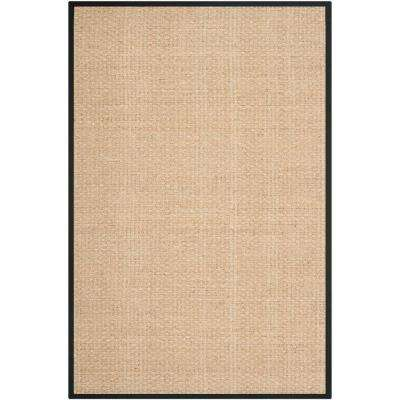 Natural Fiber Beige/Black 9 ft. x 12 ft. Area Rug