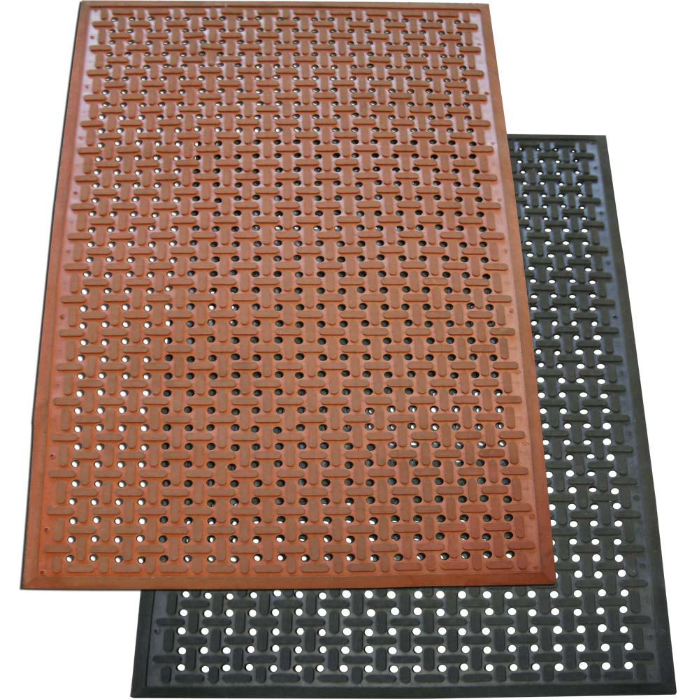 Rubber Cal Kitchen Mat Red 3 Ft X 5 Nitrile Commercial