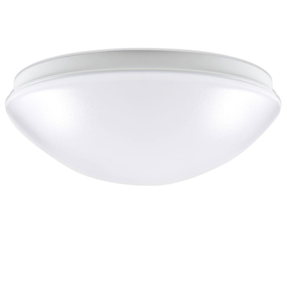 Cordelia Lighting 100 Watt Equivalent Low Profile White Integrated Led Round Flush Mount Ceiling Light