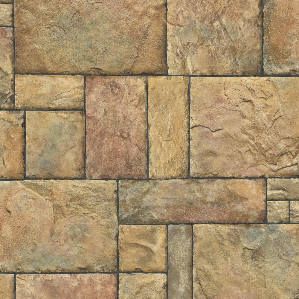 The Wallpaper Company 8 in. x 10 in. Brown Stone Wallpaper Sample