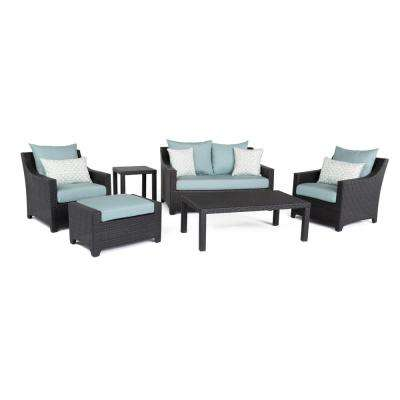 Loveseat - Blue - Eco-friendly - Patio Conversation Sets - Outdoor ...