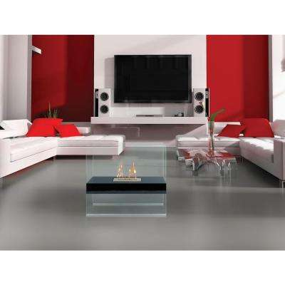 Madison 28 in. Vent-Free Ethanol Fireplace in Black/Tempered Glass