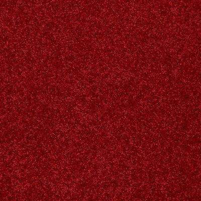 Carpet Sample - Joyful Whimsey - In Color Red Rover 8 in. x 8 in.