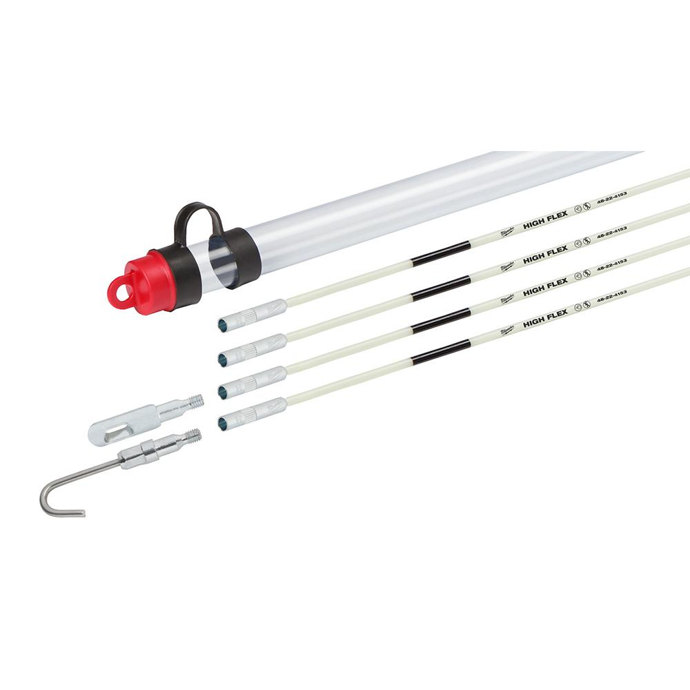 Milwaukee Milwaukee 15 ft. High Flex Fiberglass Fish Stick Kit with Accessories