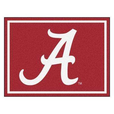 NCAA University of Alabama Red 8 ft. x 10 ft. Indoor Area Rug