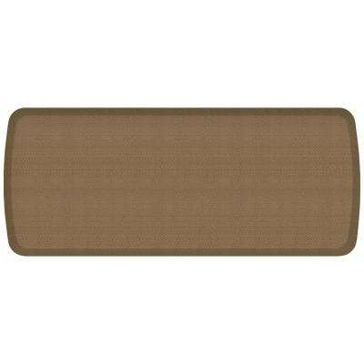 Elite Rattan Summer Sand 20 in. x 48 in. Comfort Kitchen Mat