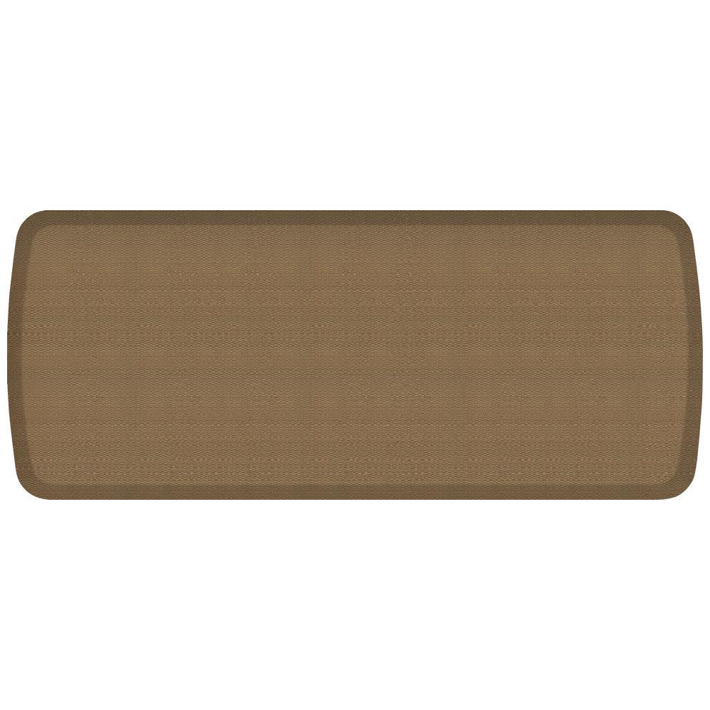 Elite Rattan Summer Sand 20 in. x 48 in. Comfort Kitchen Mat