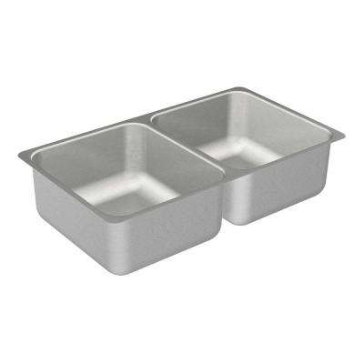 2000 Series Undermount Stainless Steel 31.25 in. Double Bowl Kitchen Sink