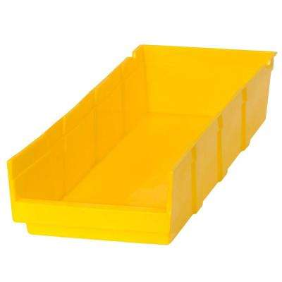 1.25-Gal. Heavy Duty Plastic Storage Bin in Yellow (24-Pack)