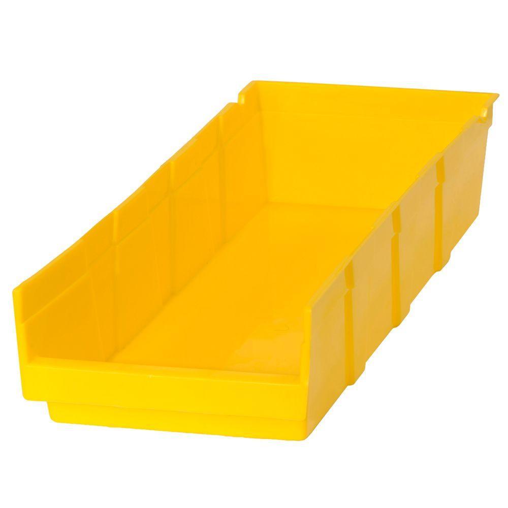 1.25-Gal. Heavy Duty Plastic Storage Bin in Yellow (24-Pack)