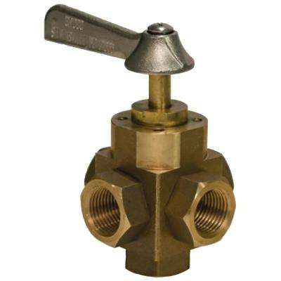 FV-550 l Bronze 5-Way Tank Selector Valve 1/2 in. Full Flow