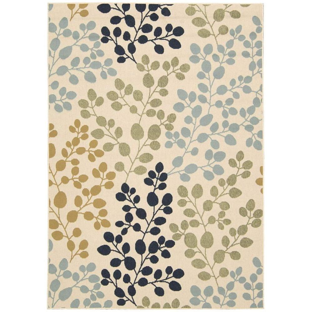 Caribbean Ivory 8 ft. x 11 ft. Indoor/Outdoor Area Rug