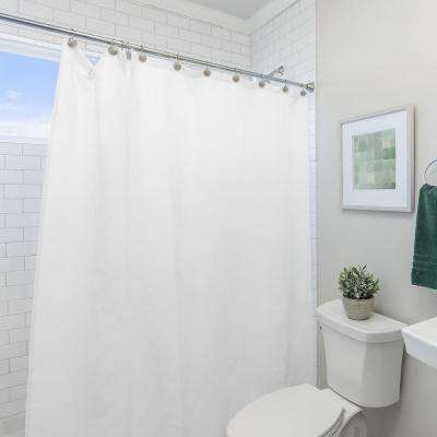 Peva 72 in. x 72 in. White Shower Curtain Liner
