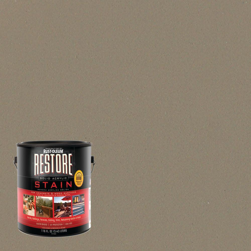 1 gal. Solid Acrylic Water Based Fieldstone Exterior Stain