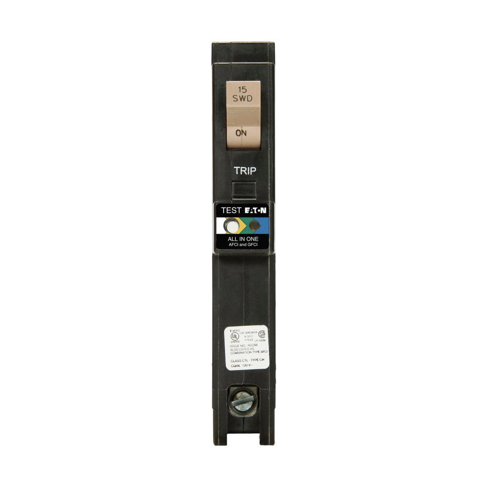 Eaton Br 15 Amp Single Pole Dual Function Long Body Arc Fault Ground Afci Outlet Wiring Diagram Ch 1 Plug