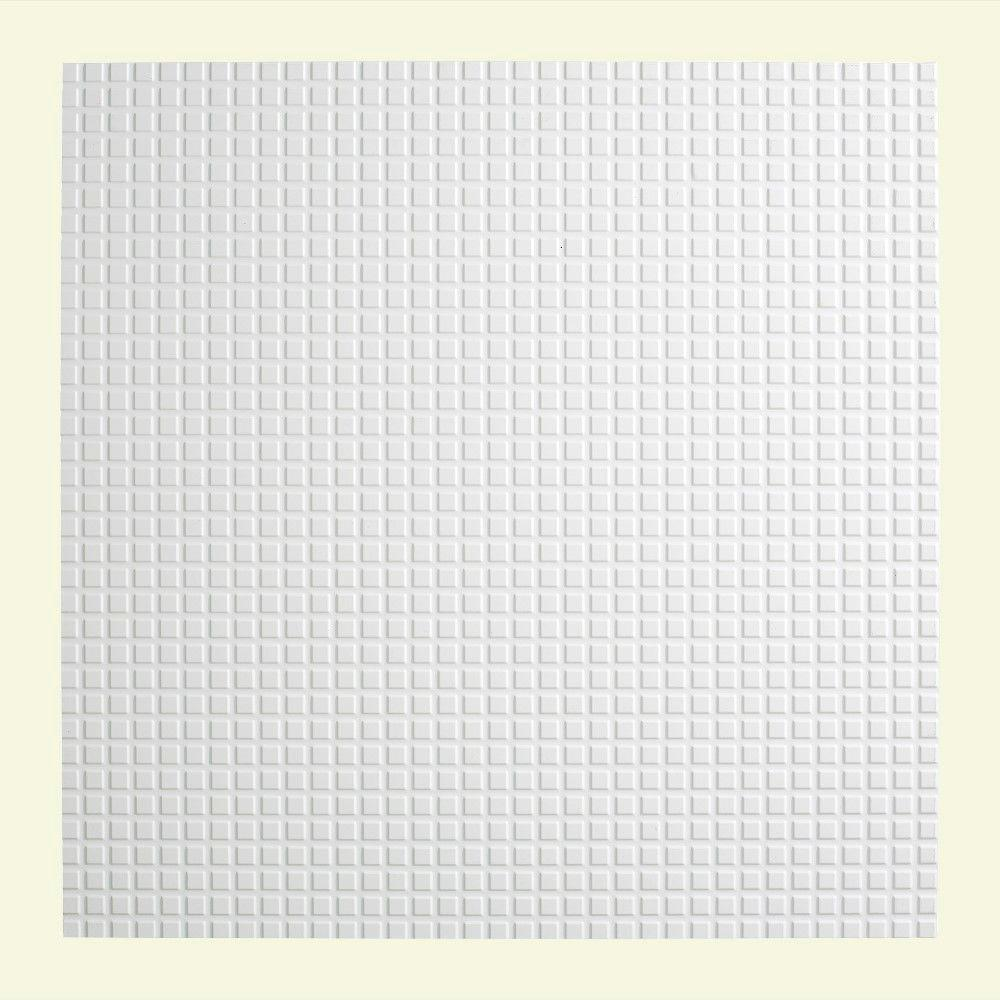 Fasade Square - 2 ft. x 2 ft. Lay-in Ceiling Tile in Gloss White