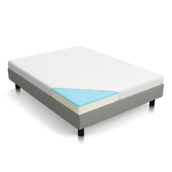 LUCID 5 in. Twin Dual Layer Gel Memory Foam Mattress HDLU05TT45GF