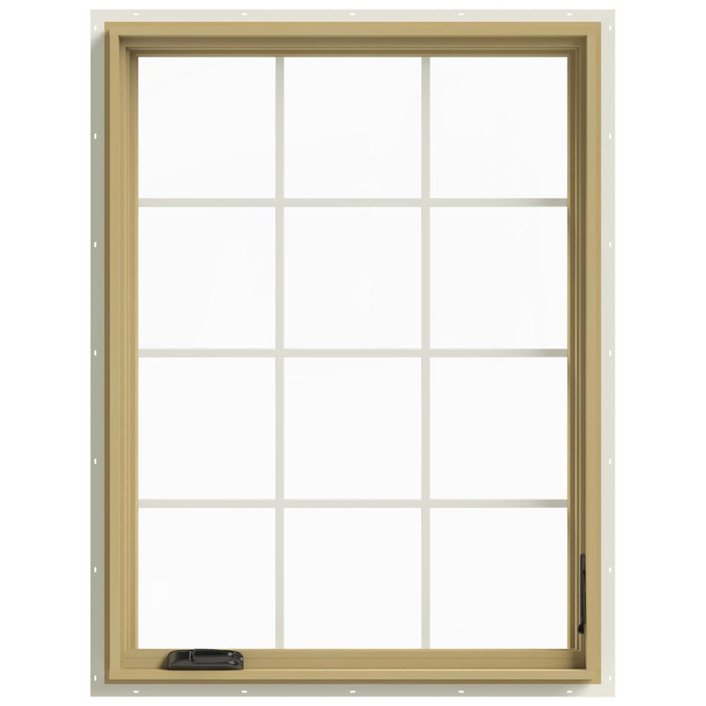 36 in. x 48 in. W-2500 Right-Hand Casement Aluminum Clad Wood Window