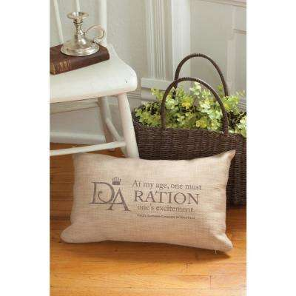 Violet's Wisdom Natural Ration Decorative Pillow