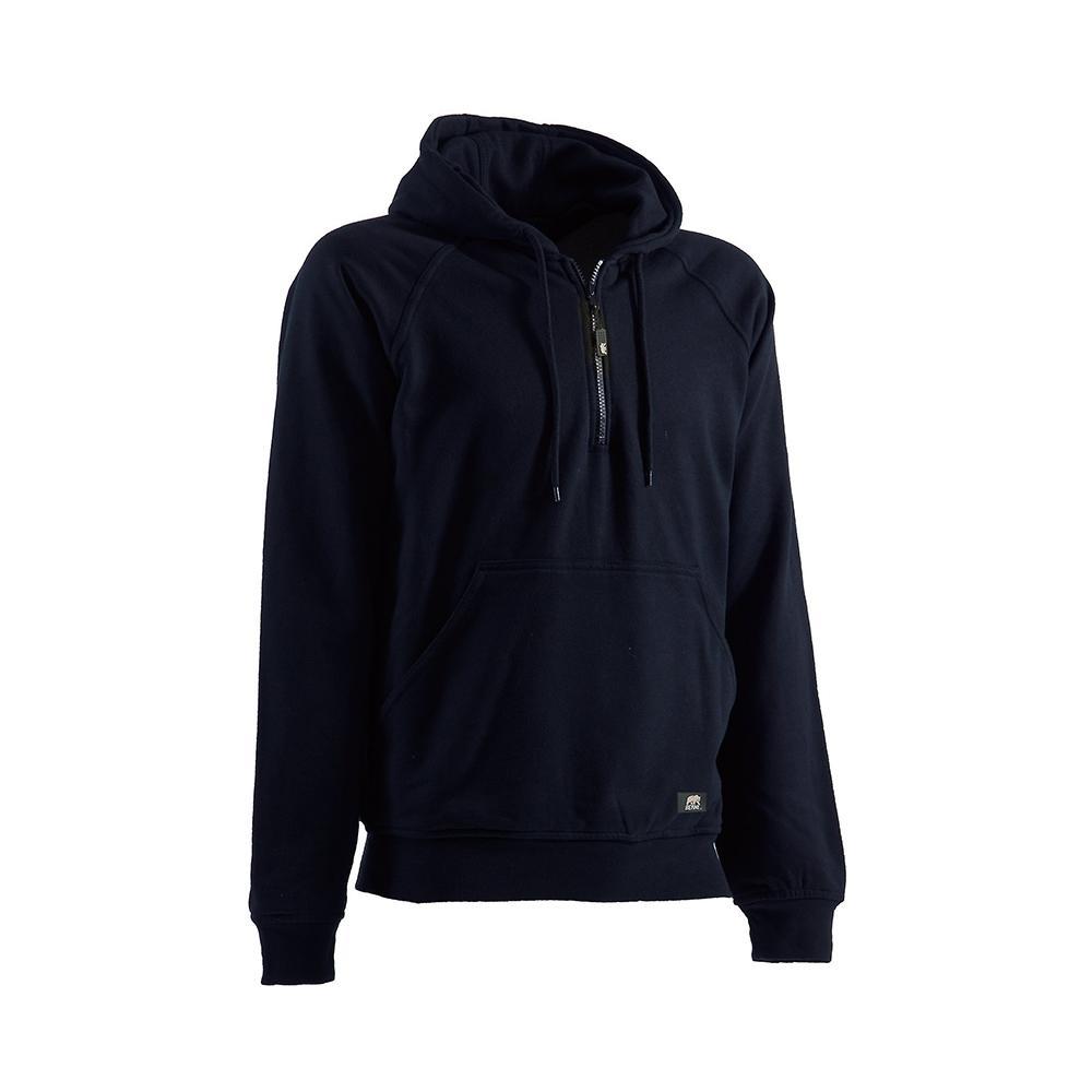 Berne Men's 4 XL Tall Navy Quarter-Zip Hooded Sweatshirt