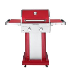 2-Burner Propane Gas Grill in Red