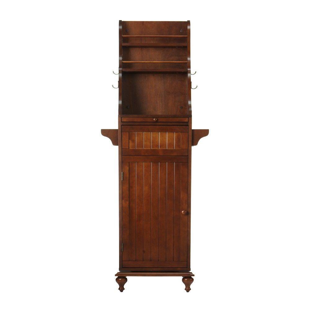 Home Decorators Collection Revolving 67.5 in. H Kitchen Storage Carousel in Dark Cherry