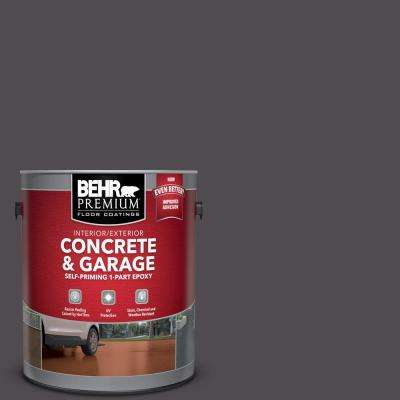 1 gal. #N570-7 Black Elegance Self-Priming 1-Part Epoxy Satin Interior/Exterior Concrete and Garage Floor Paint