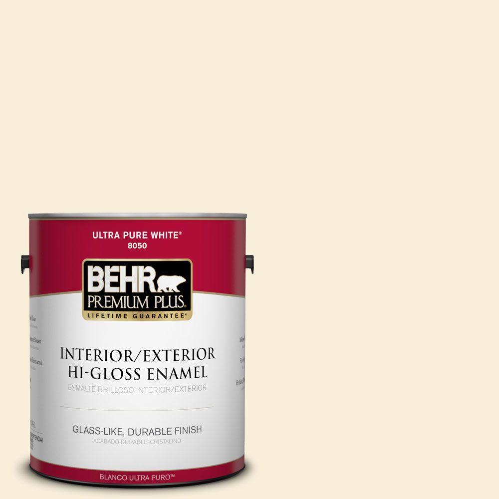 1-gal. #380E-1 Mist Yellow Hi-Gloss Enamel Interior/Exterior Paint