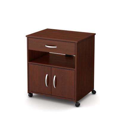 Axess Royal Cherry Microwave Cart With Storage