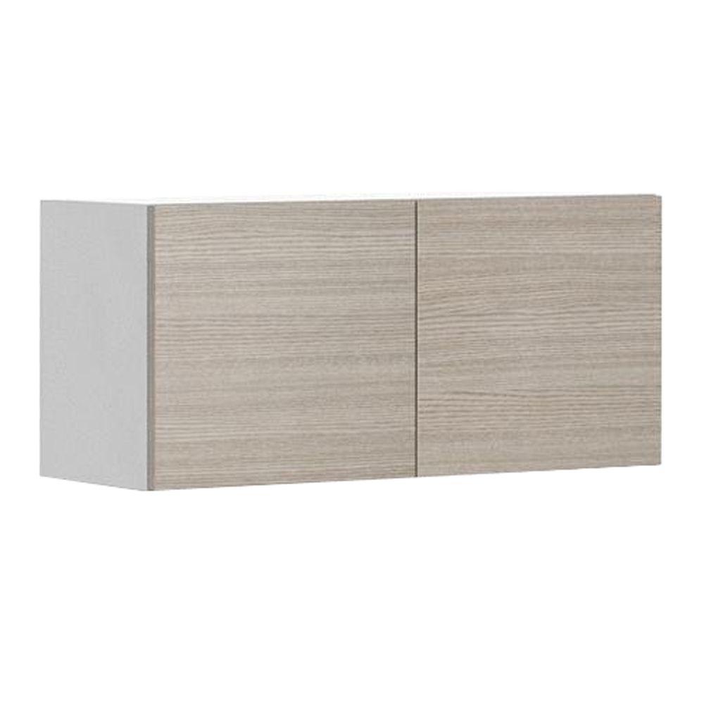 Geneva Wall Bridge Cabinet In White Melamine And