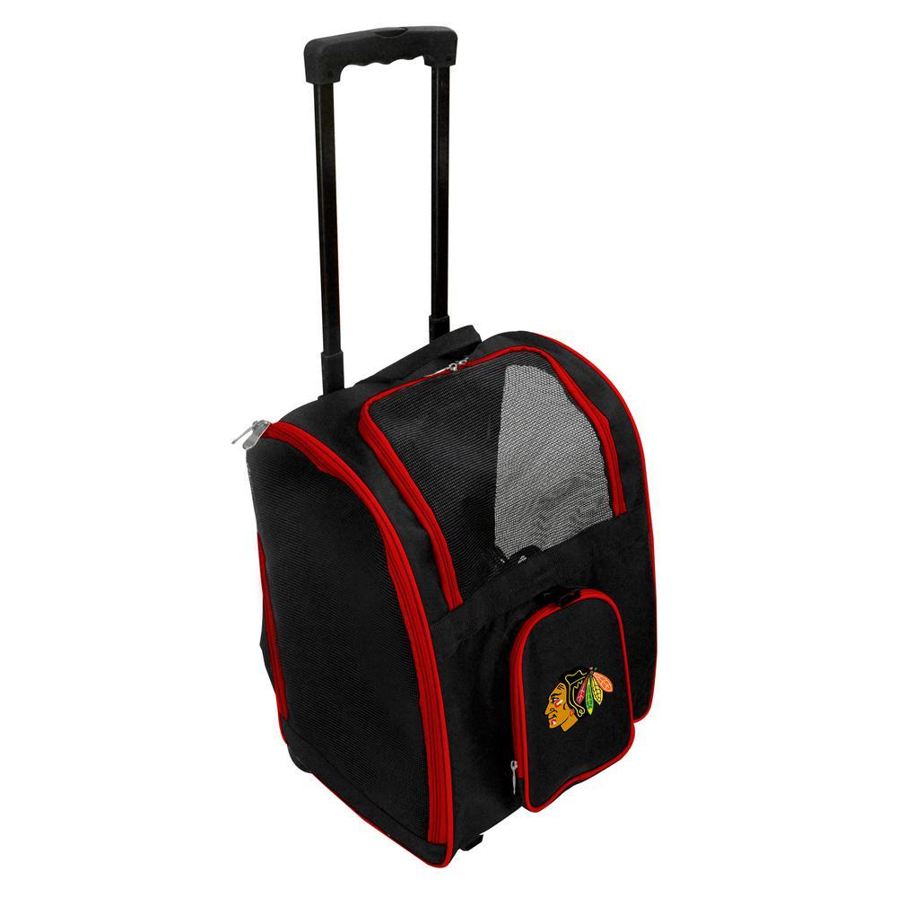 Denco NCAA Gonzaga University Bulldogs Pet Carrier Premium Bag with wheels in Red