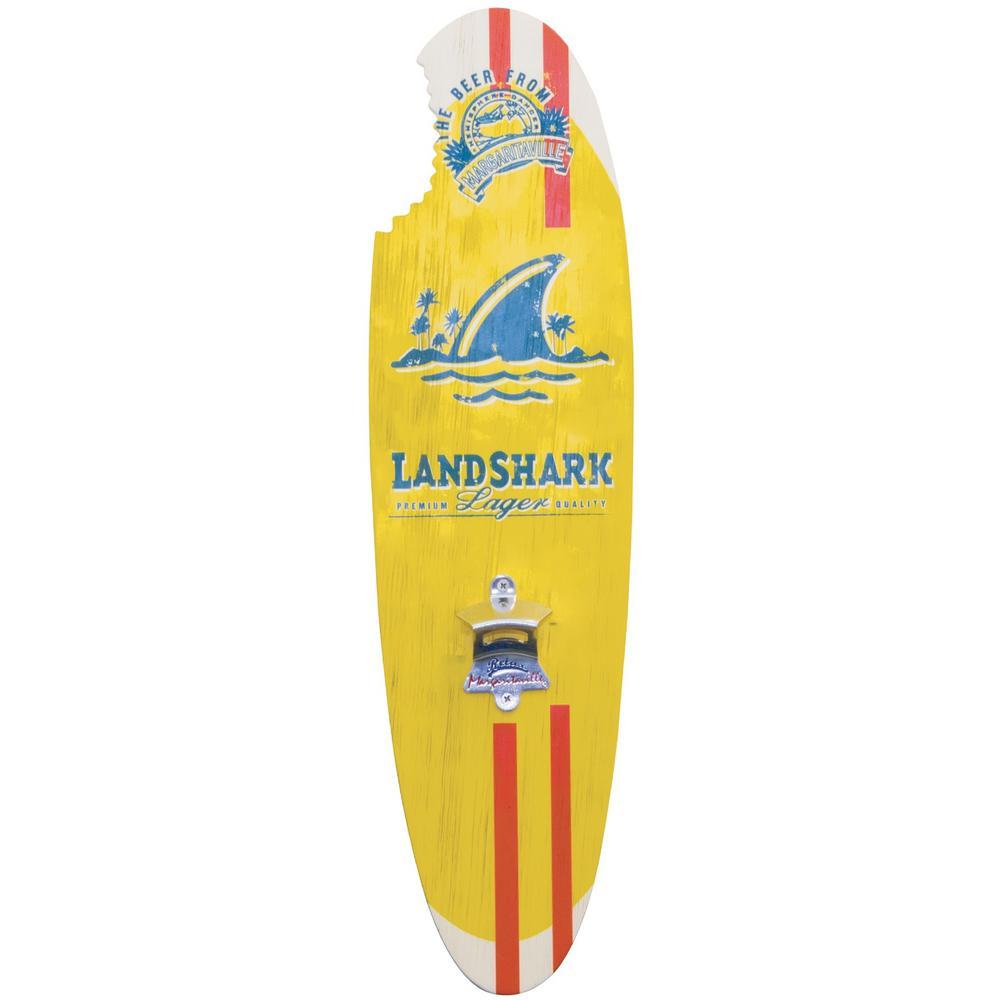 Landshark Lager Surfboard Bottle Opener Sign