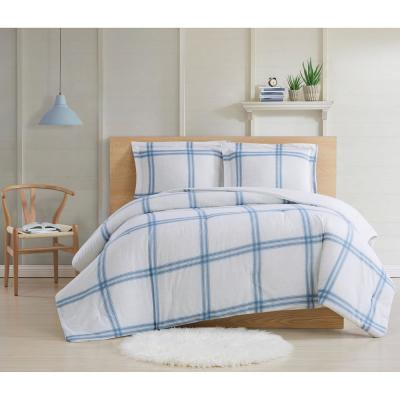 Farmhouse Plaid 2 Piece Twin XL Comforter Set