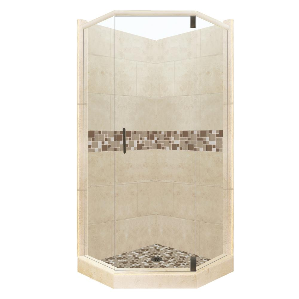 American Bath Factory Tuscany Grand Hinged 32 In X 36 In X 80 In Left Cut Neo Angle Shower