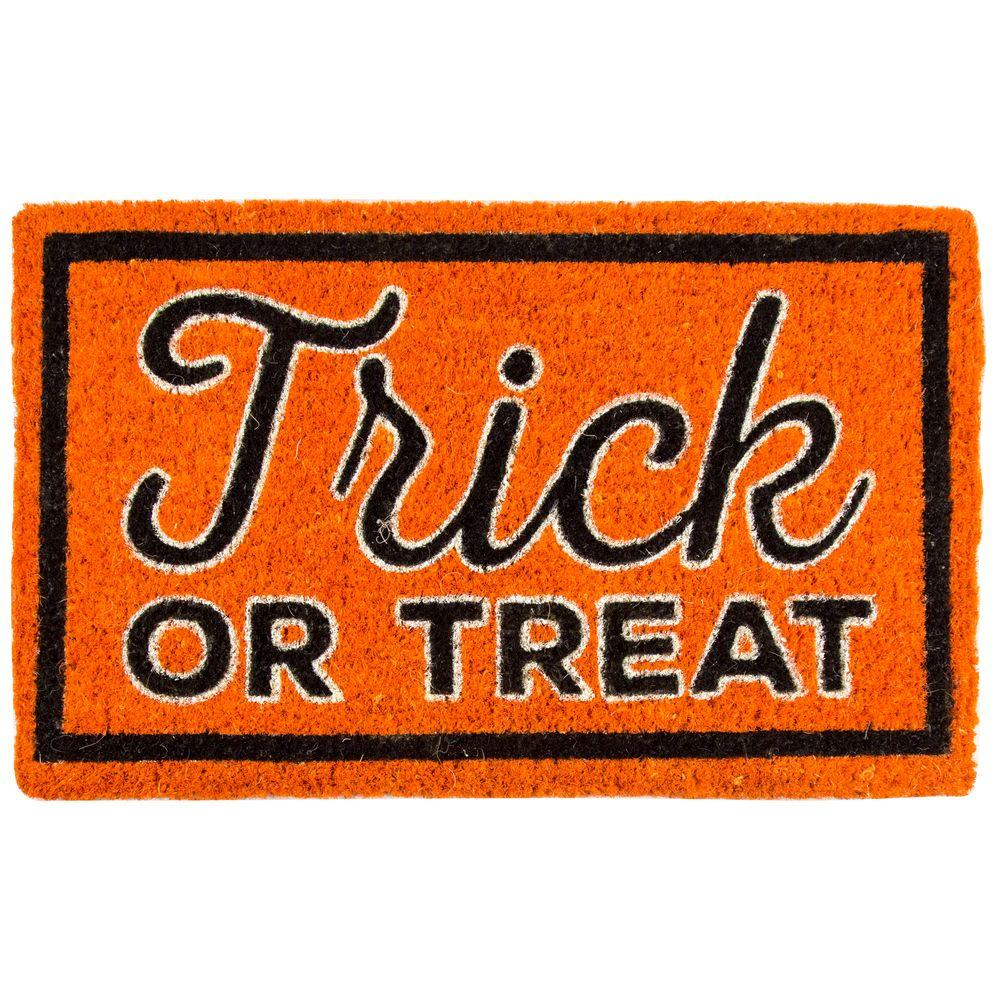 entryways trick or treat 18 in. x 30 in. coir door mat-2071s - the