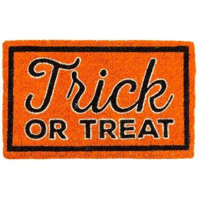 Trick or Treat 18 in. x 30 in. Coir Door Mat