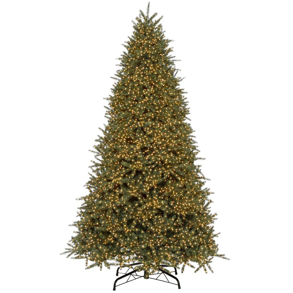Pre Lit 9 Ft Christmas Tree: Home Accents Holiday 9 Ft. Pre-Lit LED Cavalier Fir Color