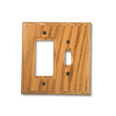 1 Toggle 1 Decora Wall Plate - Light Oak