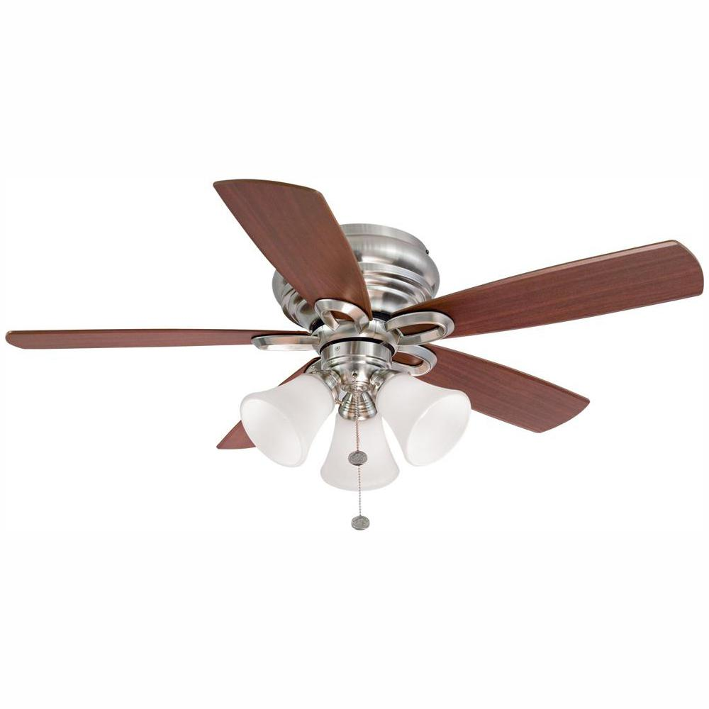 Hampton Bay Maris 44 in. LED Indoor Brushed Nickel Ceiling Fan with Light Kit