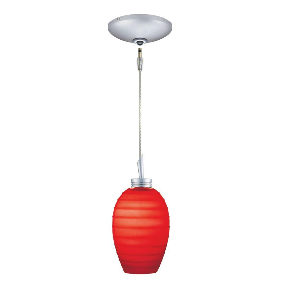 JESCO Lighting Low Voltage Quick Adapt 3-1/4 in. x 102-3/4 in. Red Pendant and Canopy Kit