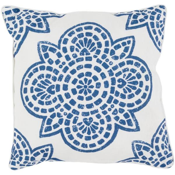 Artistic Weavers Acradenia Navy Geometric Polyester 20 In X 20 In Throw Pillow S00151033456 The Home Depot