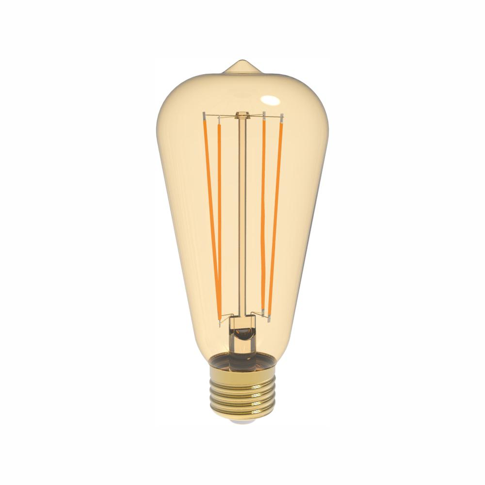 Euri Lighting 40W Equivalent Warm White (2200K) ST19 Dimmable Amber LED Light Bulb