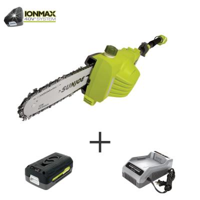 8 in. 40-Volt Electric Cordless Telescoping Pole Saw Kit with 2.5 Ah Battery + Charger