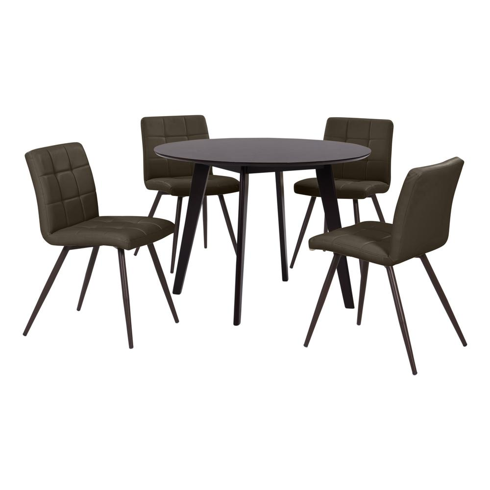 Handy Living Edgewater 5-Piece Dining Set With Espresso