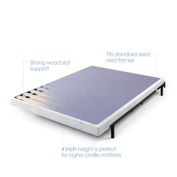 Zinus 4 Inch Low Profile Wood Box Spring//Mattress Foundation Full