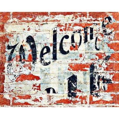 79 in. H x 63 in. W Welcome Wall Mural