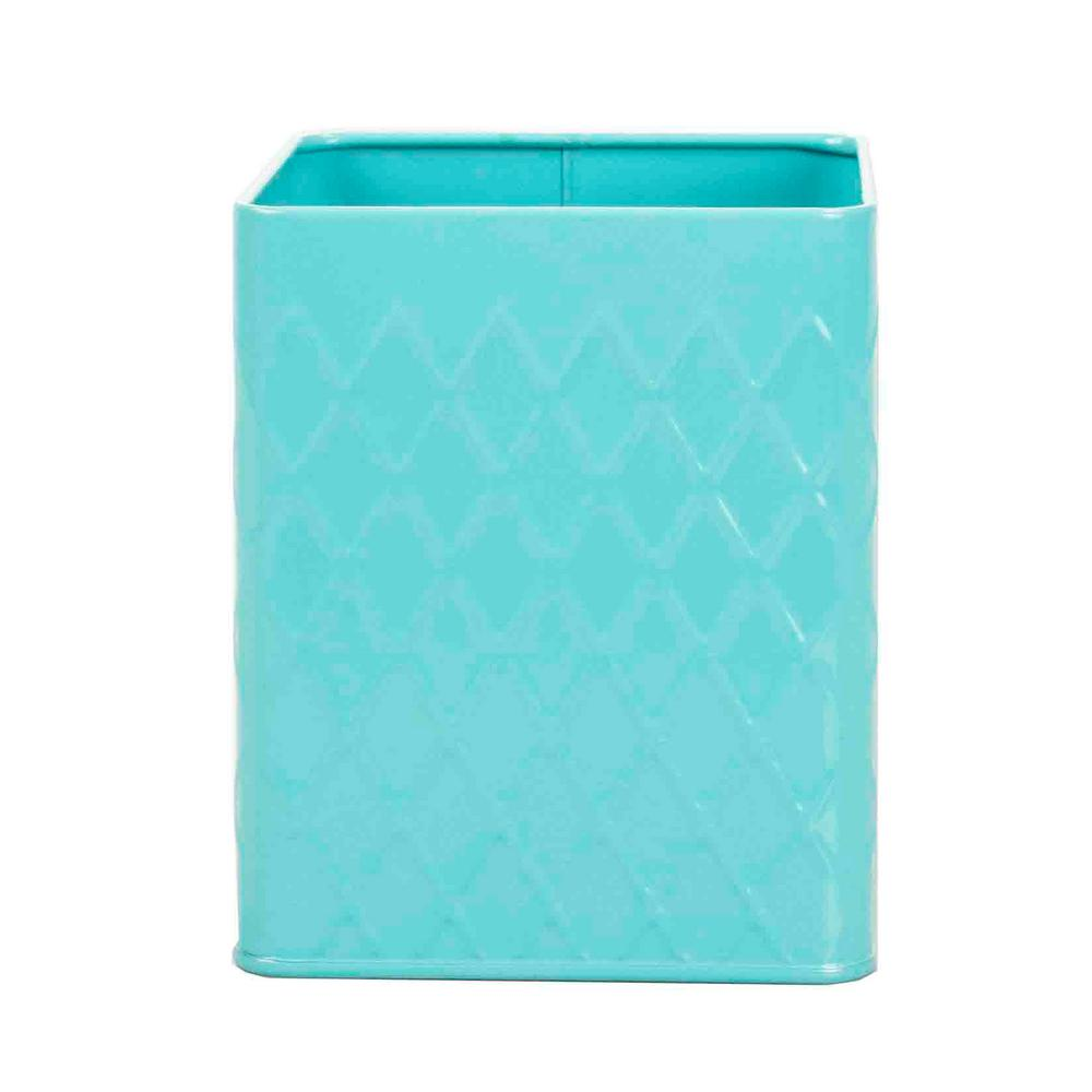 Turquoise Tin Utensil Holder