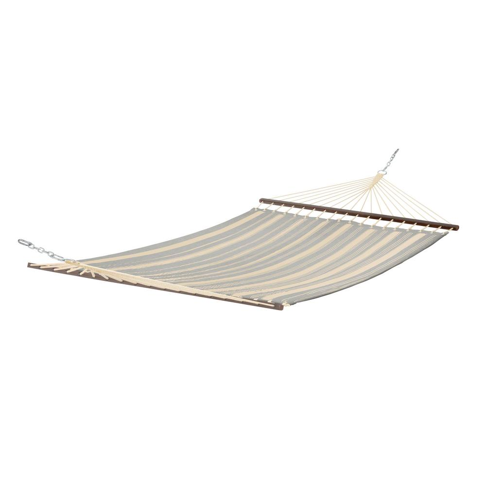 Montlake 11 ft. Quilted Hammock in Heather Grey Stripe